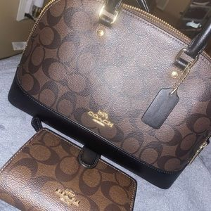 Coach crossbody and wallet set